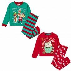 15C516: Infants Christmas Printed Pyjama (2-6 Years)