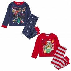 15C518: Infants Christmas Printed Pyjama (2-6 Years)