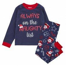 15C520: Infants Christmas List Family Pyjama (2-6 Years)