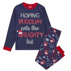 15C521: Kids Christmas List Family Pyjama (7-13 Years)