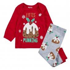 15C524: Baby Christmas Pudding Family Pyjama (0-24 Months)