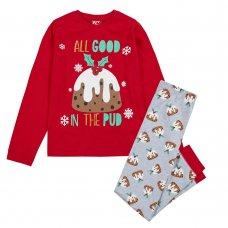 15C526: Kids Christmas Pudding Family Pyjama (7-13 Years)
