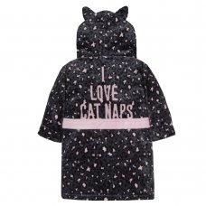 18C434: Infant Girls Novelty Leopard Cat Dressing Gown (2-6 Years)