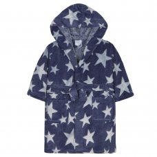 18C441: Infant Boys 3D Stars Print Dressing Gown (2-6 Years)