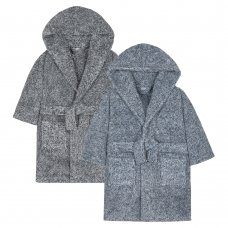 18C456: Infant Boys 2 Tone Snuggle Fleece Dressing Gown (2-6 Years)