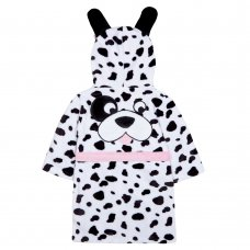 18C471: Infant Girls Novelty Dalmatian Dressing Gown (2-6 Years)