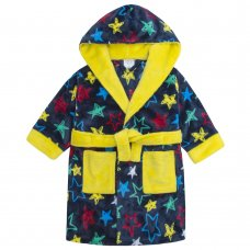 18C422: Infant Boys All Over Print Gem Stars Dressing Gown (2-6 Years)