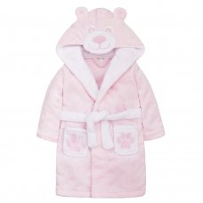18C451: Baby Pink Novelty Teddy Dressing Gown (6-24 Months)