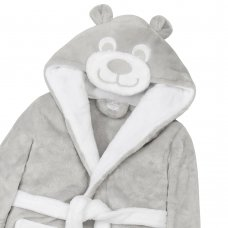 18C517: Baby Grey Novelty Teddy Dressing Gown (6-24 Months)