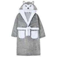 18C595: Older Kids Novelty Husky Dressing Gown (7-13 Years)