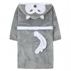 18C595: Older Kids Novelty Husky Dressing Gown (7-13 Years)