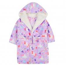 18C598: Infant Girls Unicorn Dressing Gown (2-6 Years)