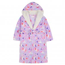 18C599: Older Girls Unicorn Dressing Gown (7-13 Years)