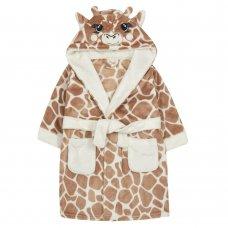 18C605: Infants Novelty Giraffe Dressing Gown (2-6 Years)