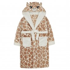 18C606: Older Kids Novelty Giraffe Dressing Gown (7-13 Years)