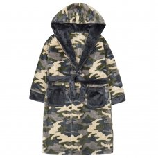 18C607: Older Boys Camo Dressing Gown (7-13 Years)