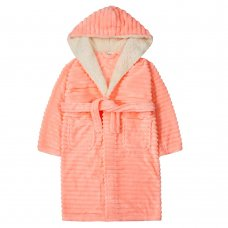18C609: Older Girls Jacquard Stripe Dressing Gown (7-13 Years)