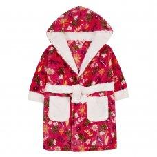 18C616: Infant Girls Hedgehog Dressing Gown (2-6 Years)