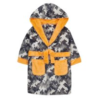 18C618: Infant Boys All Over Pixels Dressing Gown (2-6 Years)