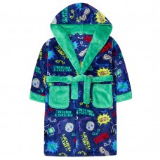 18C621: Older Boys Game Over Dressing Gown (7-13 Years)