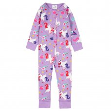 18C624: Infant Girls All Over Print Unicorn Cotton Jersey Onesie (2-6 Years)