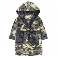 18C627: Infant Boys Camo Dressing Gown (2-6 Years)