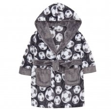18C635: Infant Boys AOP Football Dressing Gown (2-6 Years)