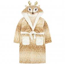 18C638: Older Girls Novelty Deer Dressing Gown (7-13 Years)