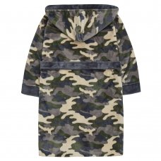 18C640: Older Boys Camo Dressing Gown (7-13 Years)