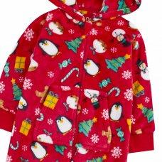 18C648: Older Kids Christmas All Over Print Onesie (7-13 Years)