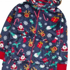 18C647: Infants Christmas All Over Print Onesie (2-6 Years)