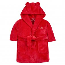 18C669: Baby Red Hooded Dressing Gown (6-24 Months)