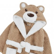 18C700: Infant Kids Novelty Teddy  Dressing Gown (2-6 Years)