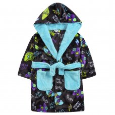18C702: Infant Boys Gaming Dressing Gown (2-6 Years)
