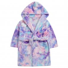 18C704: Infant Girls Tie Dye Dressing Gown (2-6 Years)