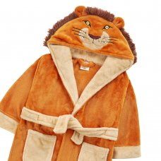 18C709: Kids Novelty Lion Dressing Gown (2-6 Years)