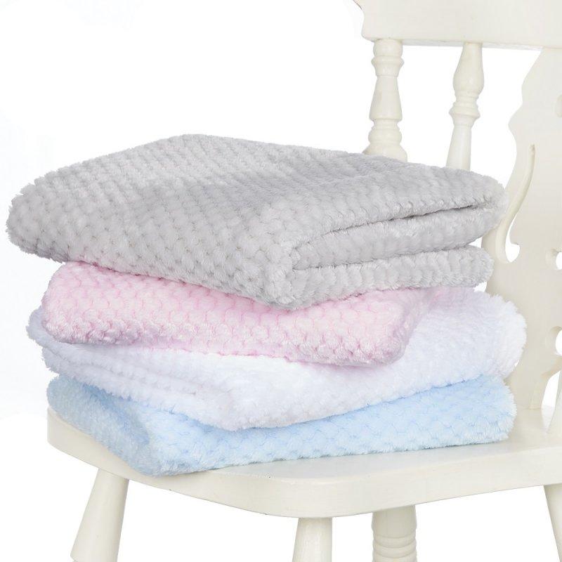 19C183: Baby Luxury Waffle Blanket (Block Colours)