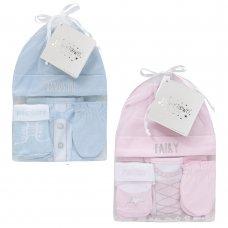 19C190: Baby 4 Piece Organza Bag Gift Set (0-3 Months)