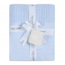 19C215: Baby Sky Heavy Knit Cellular Panel Blanket (70 x 110 CM)
