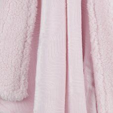19C228: Baby Luxury Plush Blanket With Sherpa Back- Pink