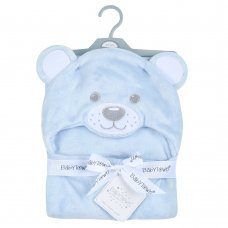 19C233: Baby Novelty Plush Bear Hooded Wrap