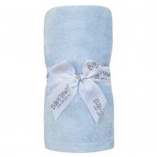 19C236: Baby Luxury Plain Plush Roll Blanket- Sky