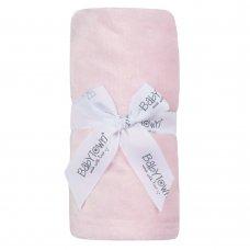 19C237: Baby Luxury Plain Plush Roll Blanket- Pink