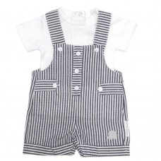 BIS-2100-2311: Baby Boys Stripe 2 Piece Outfit (NB-6 Months)