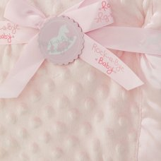 VEL03P: Baby Luxury Ultra Soft Bubble Blanket-Pink