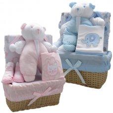 3181PB: Baby 5 Piece Luxury Basket Gift Set (0-3 Months)