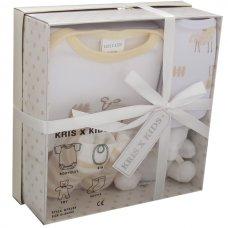 3195C: Cream 4 Piece Luxury Boxed Gift Set (0-3 Months)