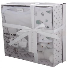 3195W: White 4 Piece Luxury Boxed Gift Set (0-3 Months)