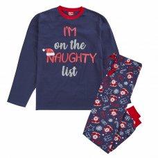 31B1637: Mens Christmas List Family Pyjama (S-XL)