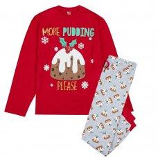 31B1638: Mens Christmas Pudding Family Pyjama (S-XL)